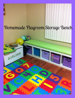 Playroom Storage Bench