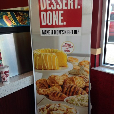 FREE CAKE! {Thanks, KFC!}