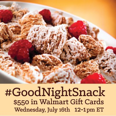 RSVP for the #GoodNightSnack Twitter Party