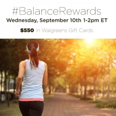 Join the #BalanceRewards Twitter Party on 9/10