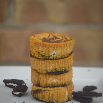 Tastes of Fall: Chocolate Swirl Pumpkin Cheesecake