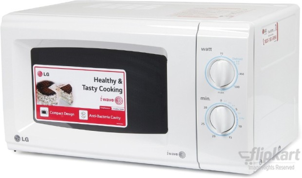 lg ms2021cw 20 l solo microwave oven white