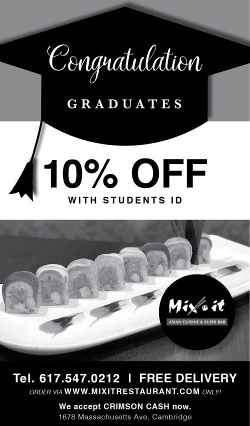Students looking for a traditional Asian restaurant in Cambridge can get 10% OFF (with ID) Also, Mix It offers Free Delivery via our website Only!