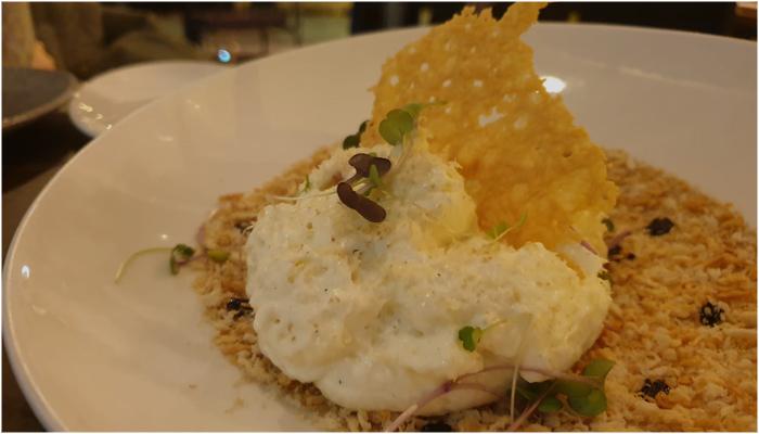Restaurante Brel Ensalada Cesar con espuma de parmesano