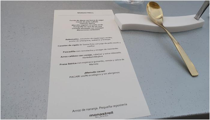 Experiencia Gastronomica en Alicante Menú Restaurante Monastrell