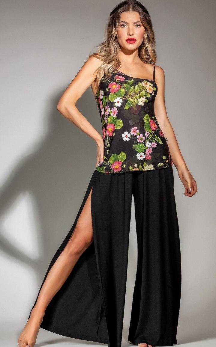 Premium — Pijama Blusa de Alça com Calça