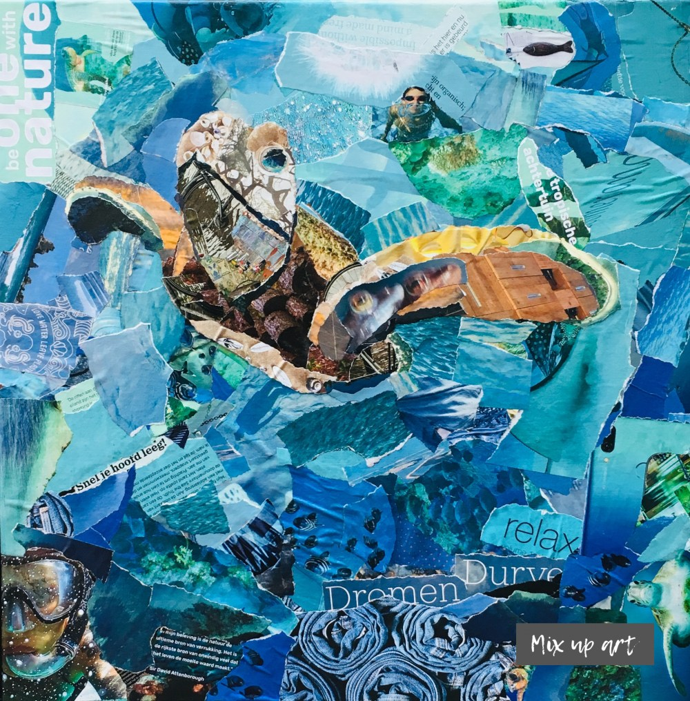 Divers view - € 550,- Collage (50 x 50)