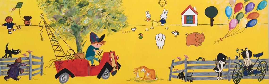 Kinderboeken - Verkocht / Acryl op doek 40 x 100
