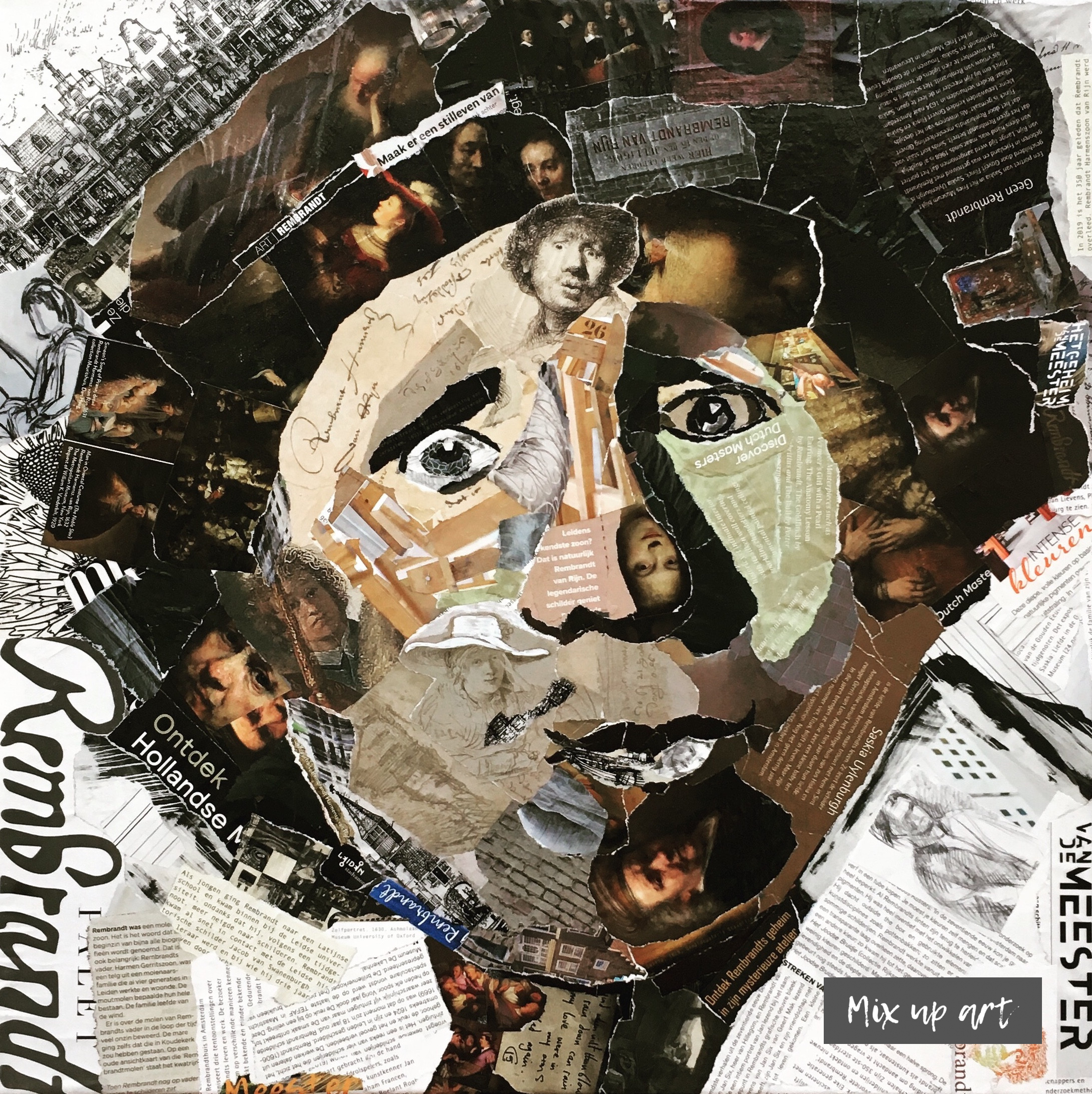 Rembrandt - € 750,- Collage (50 x 50)