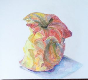 Appel €50,- / Kleurpotlood op papier 70 x 90