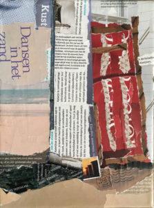 """Katwijk"" - €50,- / Collage op canvas 18 x 24"
