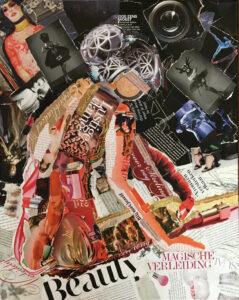 Magische verleiding - € 495,- / Collage op canvas 40 x 50