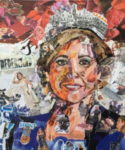 Queen of hearts - €550,- / Collage op canvas 50 x 60