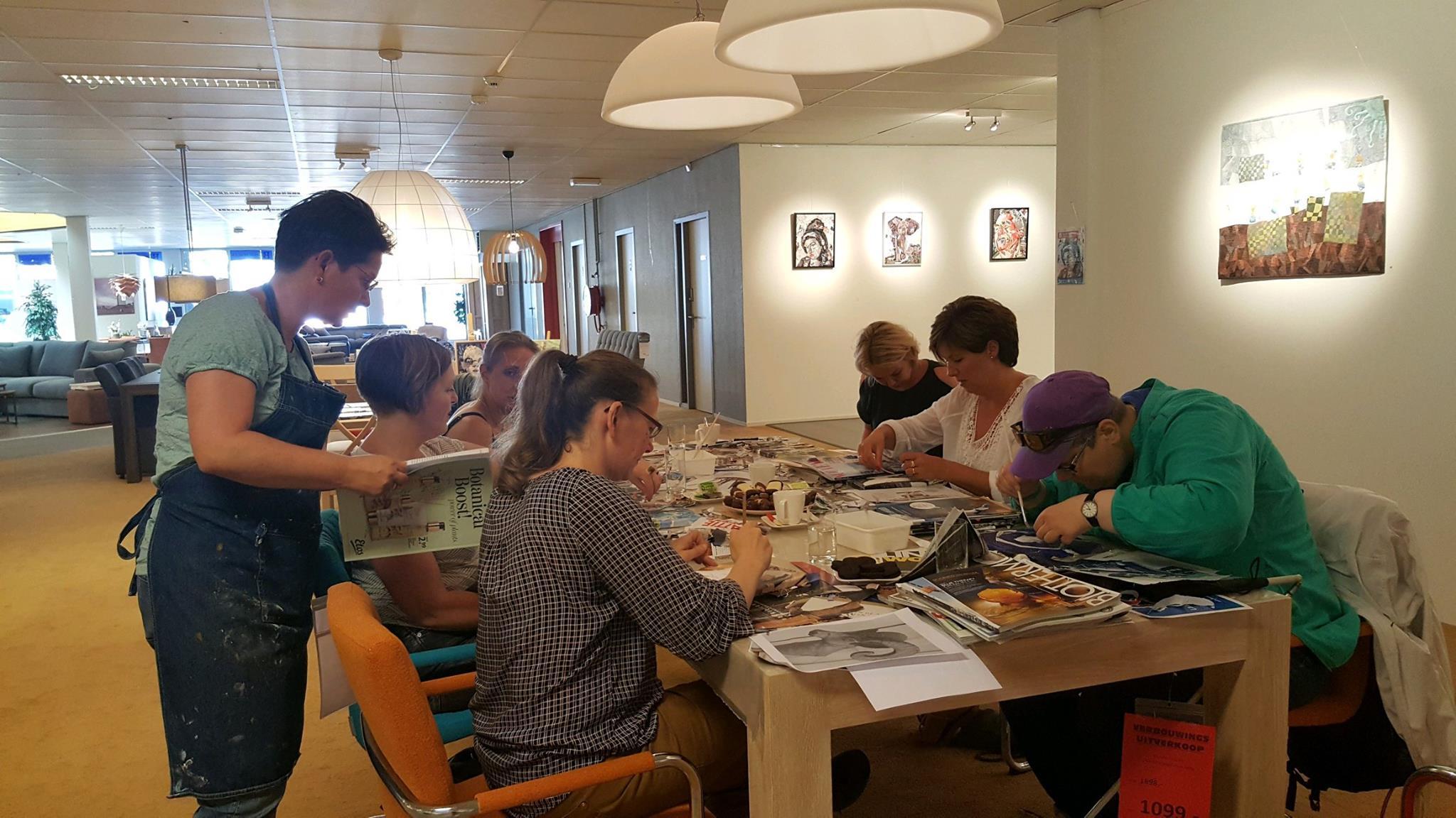 Workshop 'Collage maken' bij woonwinkel Baalbergen