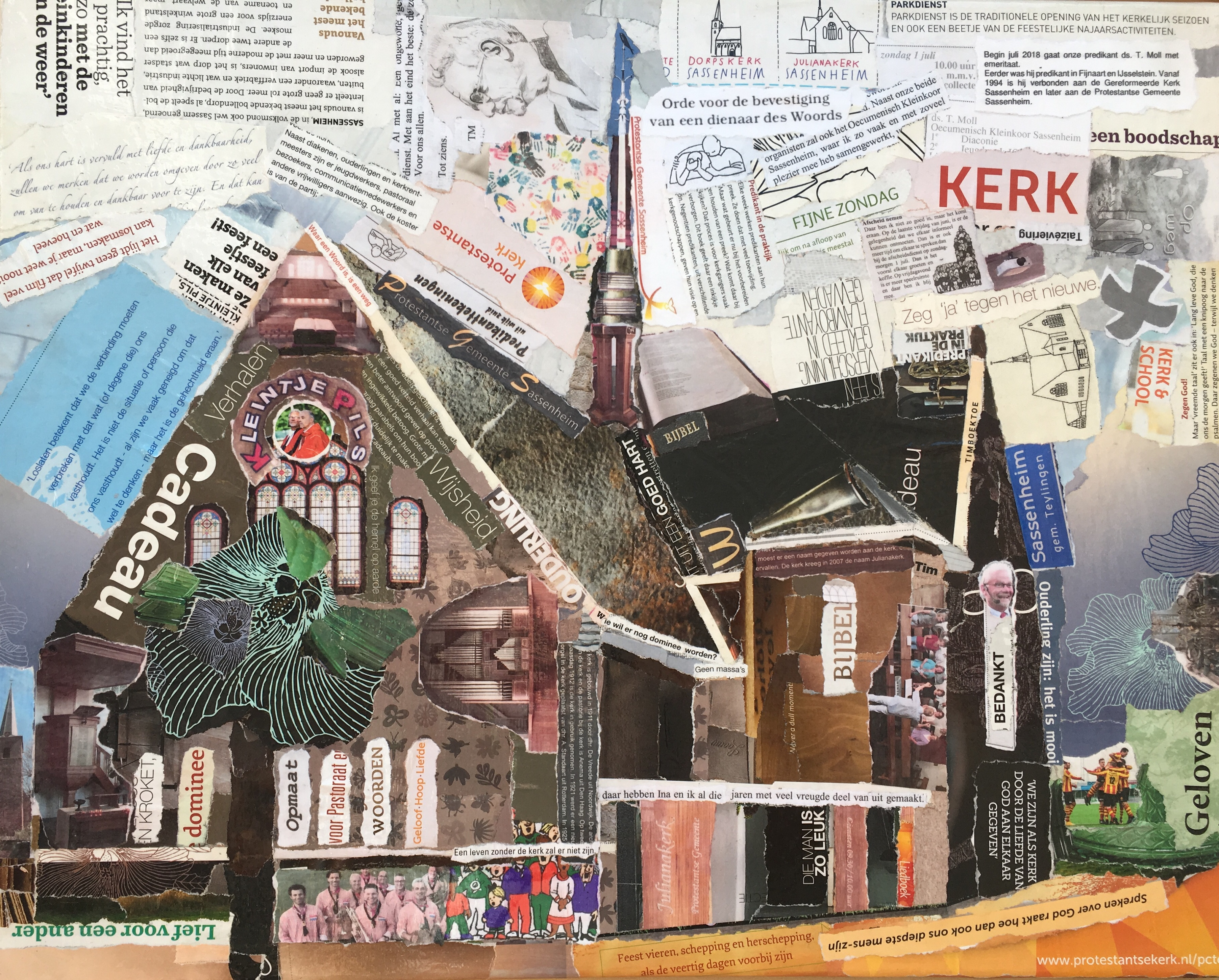Julianakerk - In opdracht / Collage (40 x 50)