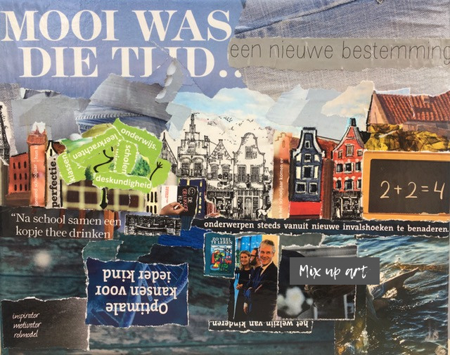 Amsterdam - In opdracht - Collage op canvas (24 x 30)