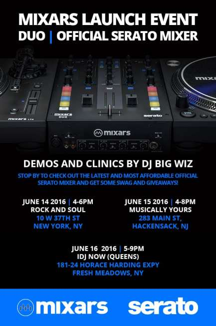Mixars DUO Launch Events Flyer