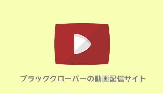 ブラッククローバーが無料の動画配信サービス|アニチューブの代わりに見放題!