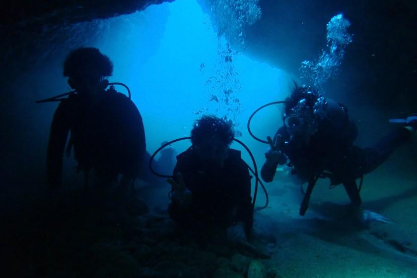 宮古島体験ダイビング 洞窟
