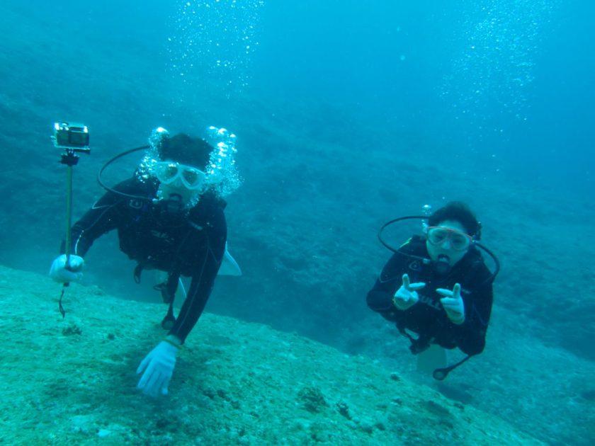 宮古島・中の島チャネルで体験ダイビング