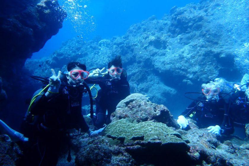 宮古島で地形ダイビング