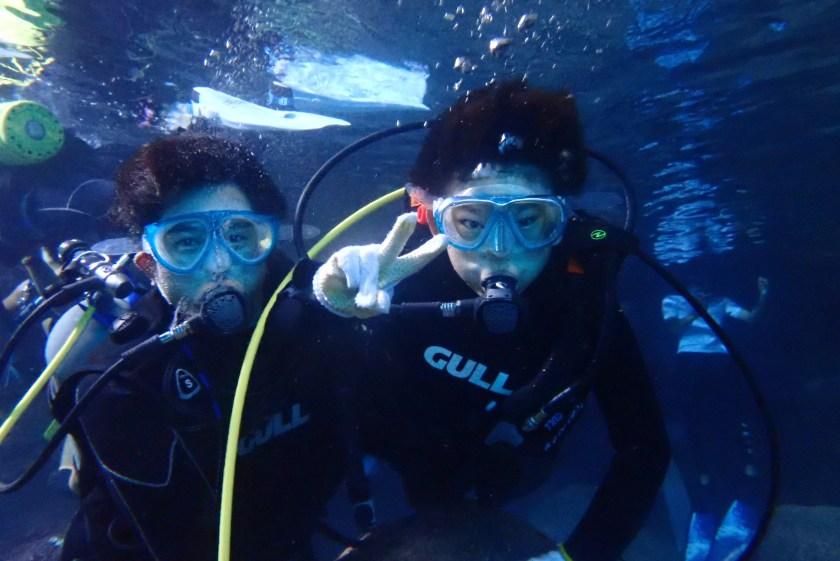 青の洞窟・親子で体験ダイビング