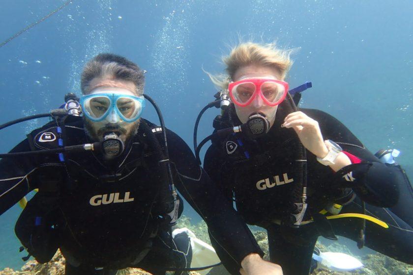 Wアーチで体験ダイビング