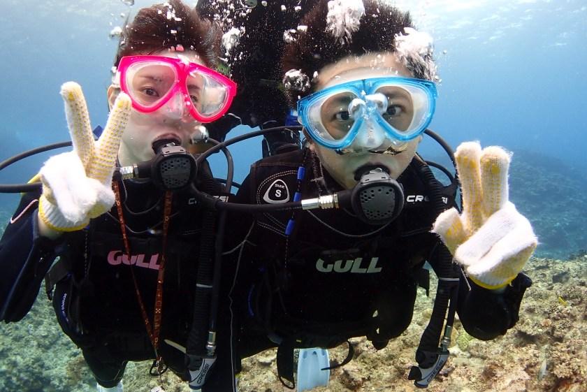 カップルで初体験ダイビング