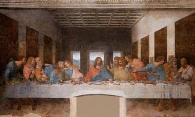 Pintura mural original de Leonardo da Vinci 'La última cena' Wikipedia / Leonardo da Vinci