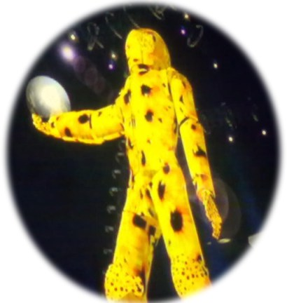 Light Man Covered in Sunflowers