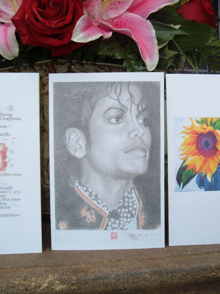 Gorgeous Drawing of Michael Inside One of the Cards!