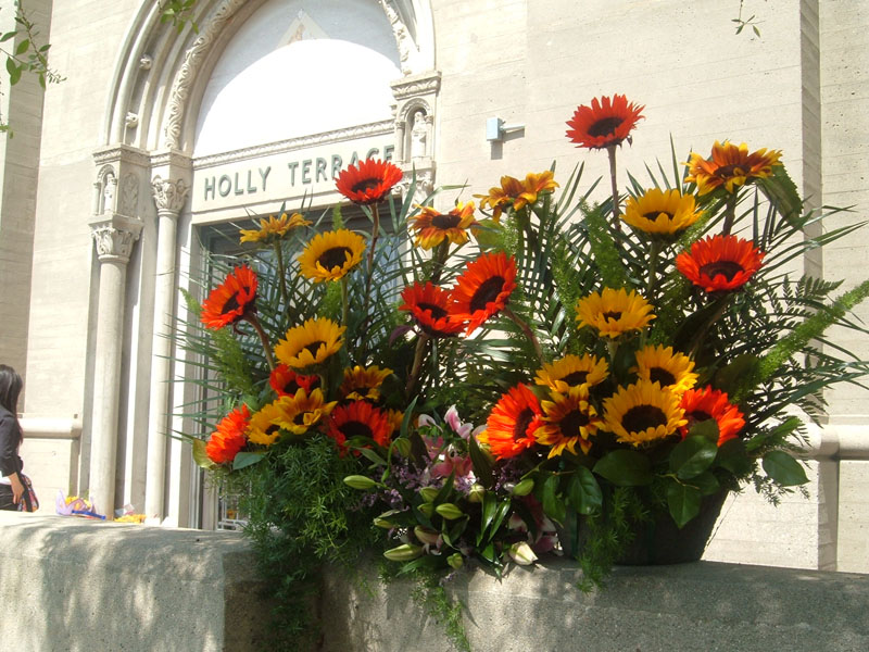 Both Bouquets in front of The Terrace