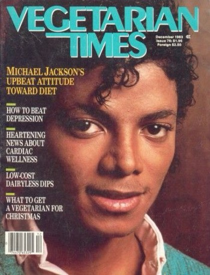 Michael on the cover of Vegetarian Times