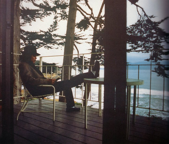 MJ on the balcony of The Lodge where he wrote these notes