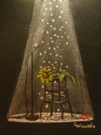 Drawing by Christine Wallden, another very talented Sunflowers for Michael contributor.