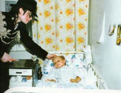 At one of many hospitals Michael visited.