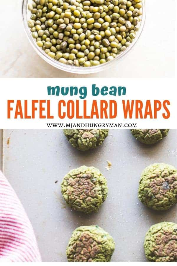 Mung Bean Falafel Collard Wrap