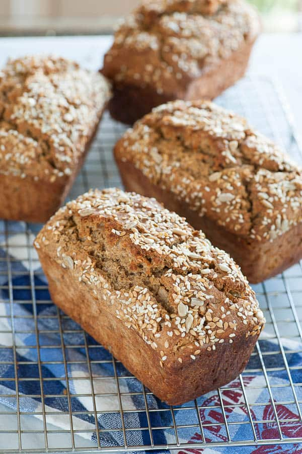 Rye Bread Loaves Cooling. This is a moist, flavorful loaf that you'll love. | mjbakesalot.com