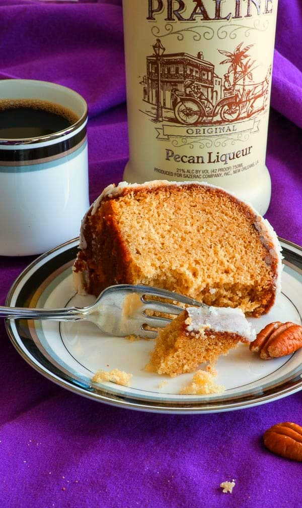 """Louisiana crunch cake is traditionally made with coconut, but I've updated the recipe for this beloved Southern treat with brown sugar, pecans, and pecan liqueur to give it rich caramel notes and flavor reminiscent of pralines. Add """"Make Louisiana crunch cake with pecans and coconut"""" to your to-do list; you won't regret it. 