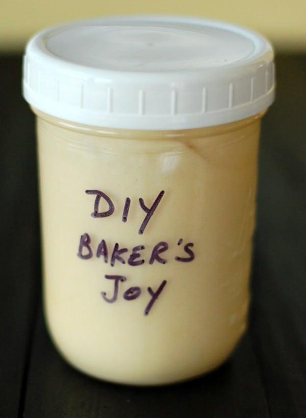 A jar of DIY baker's joy is essential for Bundt pan prep.