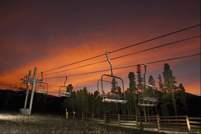 Breckenridge Chairlift Sunset