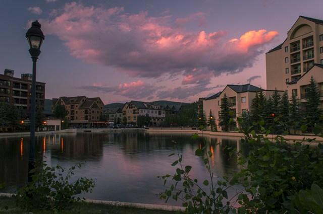 Breckenridge Village Sunset Pond