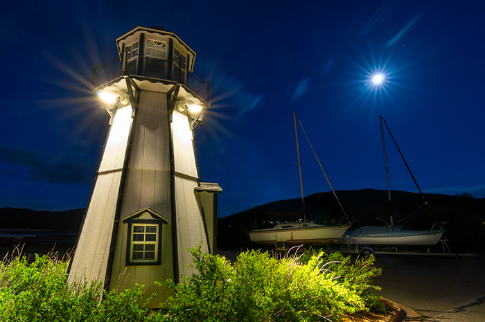 Frisco Moonlit Lighthouse