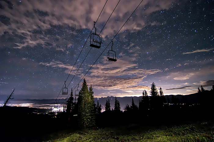 Breckenridge Chairlift Under Stars