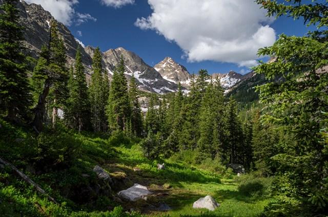 Hiking into the Gore Range Mountains