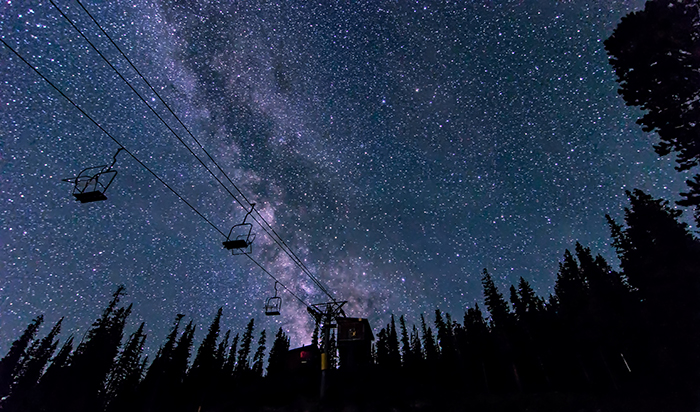Milky Way Over Chairlift