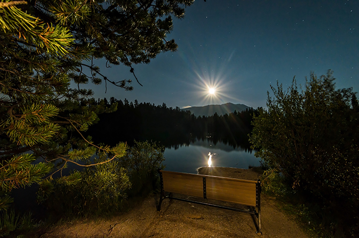 Moon over Sawmill Lake