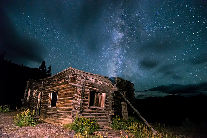 Still Night at Old Cabin