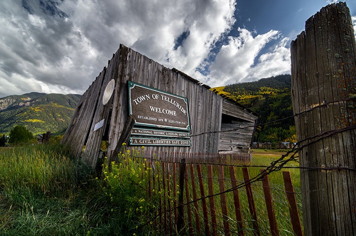 Telluride Welcome Sign