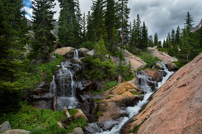Waterfall above Upper Slate Lake